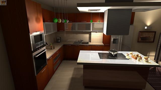 hnědá kuchyň