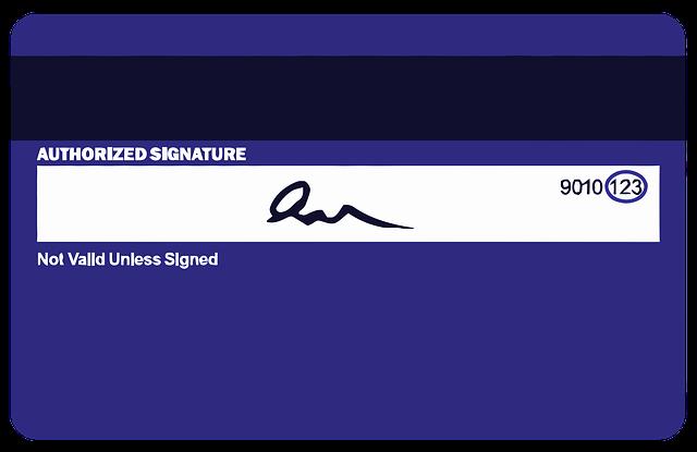 podpis na kreditce
